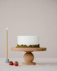 Pistacijų tortas su braškėmis